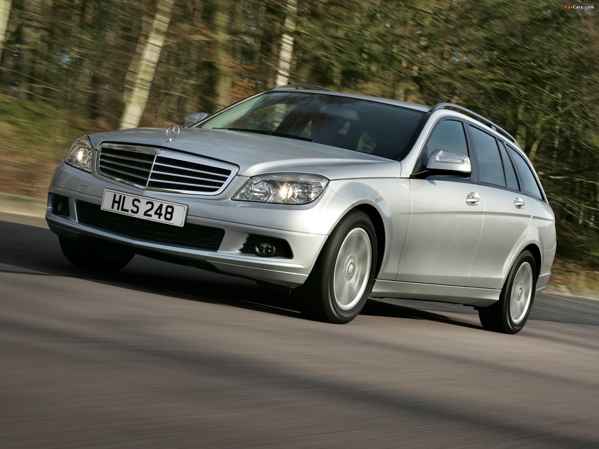Images of Mercedes-Benz C 180 Kompressor Estate UK-spec (S204) 2008–11 (2048 x 1536)