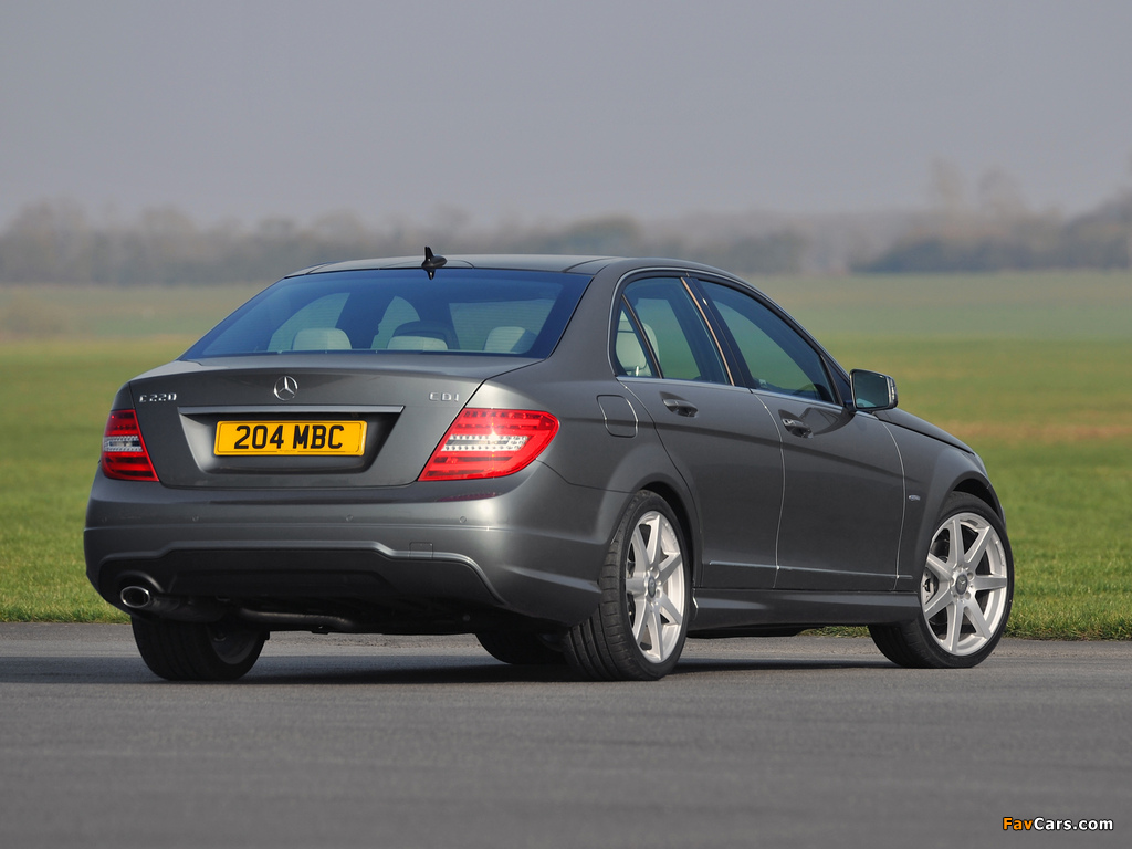 Images of Mercedes-Benz C 220 CDI AMG Sports Package UK-spec (W204) 2011 (1024 x 768)