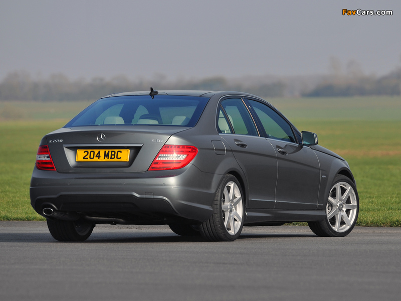 Images of Mercedes-Benz C 220 CDI AMG Sports Package UK-spec (W204) 2011 (800 x 600)