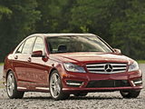 Images of Mercedes-Benz C 350 AMG Sports Package US-spec (W204) 2011