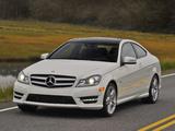 Images of Mercedes-Benz C 350 Coupe US-spec (C204) 2011