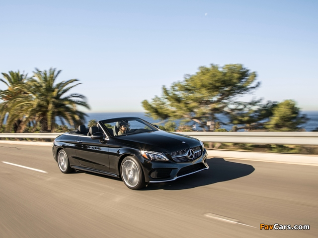 Images of Mercedes-Benz C 300 4MATIC Cabriolet AMG Line North America (C205) 2016 (640 x 480)