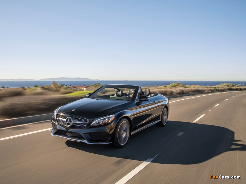 Images of Mercedes-Benz C 300 4MATIC Cabriolet AMG Line North America (C205) 2016 (800 x 600)