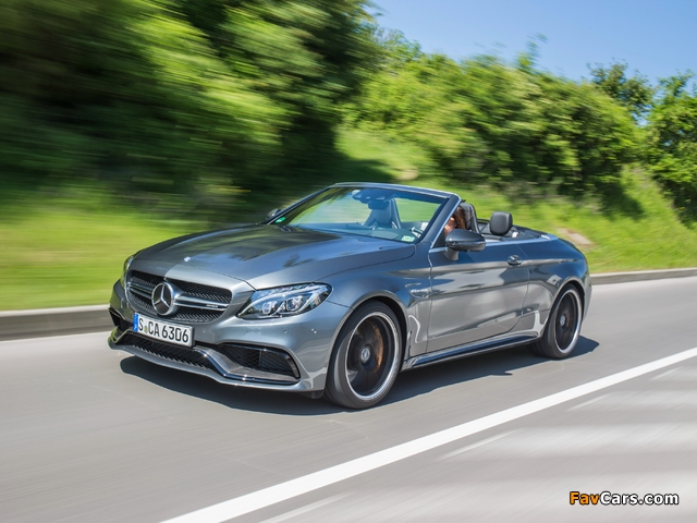 Images of Mercedes-AMG C 63 S Cabriolet (A205) 2016 (640 x 480)