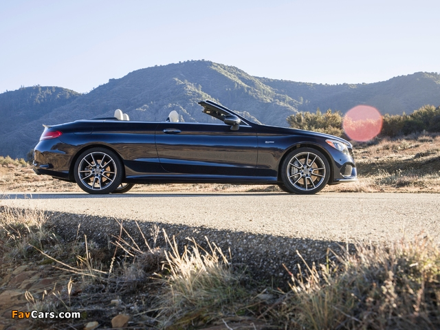 Images of Mercedes-AMG C 43 4MATIC Cabriolet North America (A205) 2016 (640 x 480)