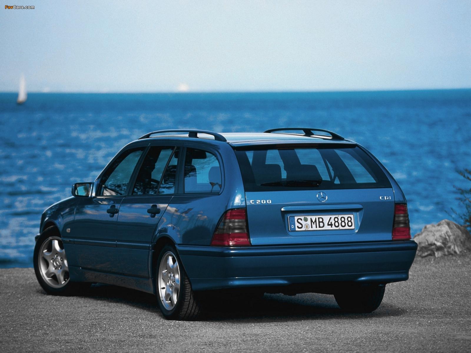 Mercedes-Benz C 200 CDI Estate (S202) 1998–2001 pictures (1600 x 1200)