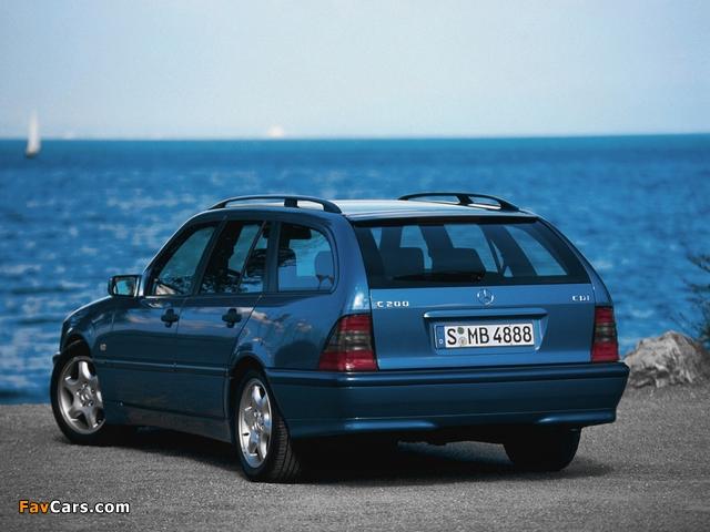 Mercedes-Benz C 200 CDI Estate (S202) 1998–2001 pictures (640 x 480)
