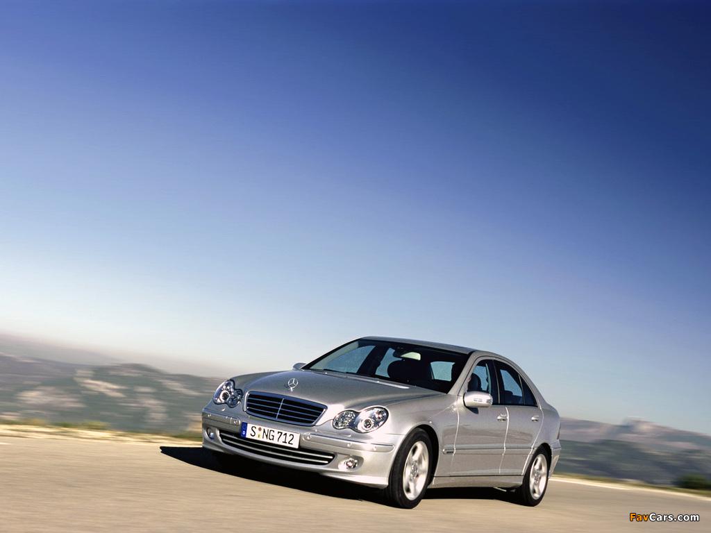 Mercedes-Benz C 220 CDI (W203) 2000–07 wallpapers (1024 x 768)