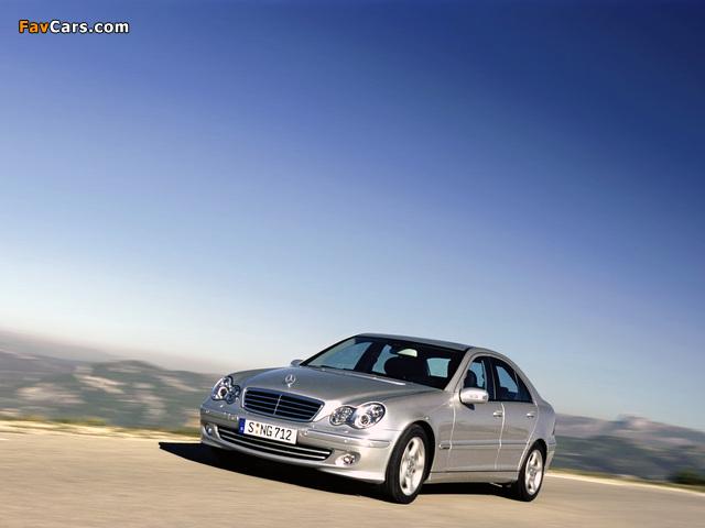 Mercedes-Benz C 220 CDI (W203) 2000–07 wallpapers (640 x 480)