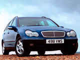 Mercedes-Benz C 200 Kompressor Estate UK-spec (S203) 2001–07 images