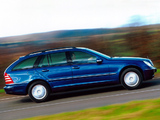 Mercedes-Benz C 200 Kompressor Estate UK-spec (S203) 2001–07 photos