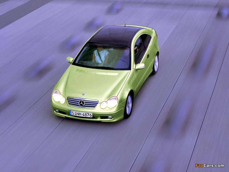 Mercedes-Benz C 200 Kompressor Sportcoupe (C203) 2001–05 pictures (800 x 600)