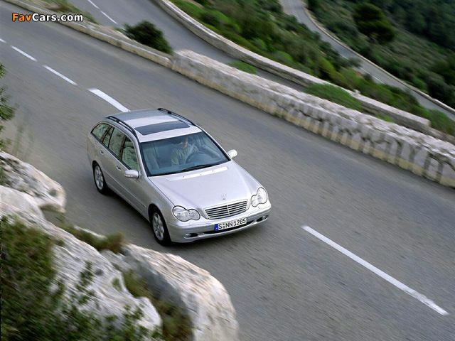 Mercedes-Benz C 270 CDI Estate (S203) 2001–05 pictures (640 x 480)