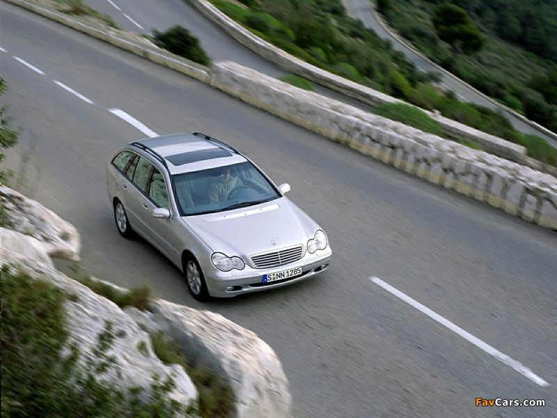 Mercedes-Benz C 270 CDI Estate (S203) 2001–05 pictures (800 x 600)