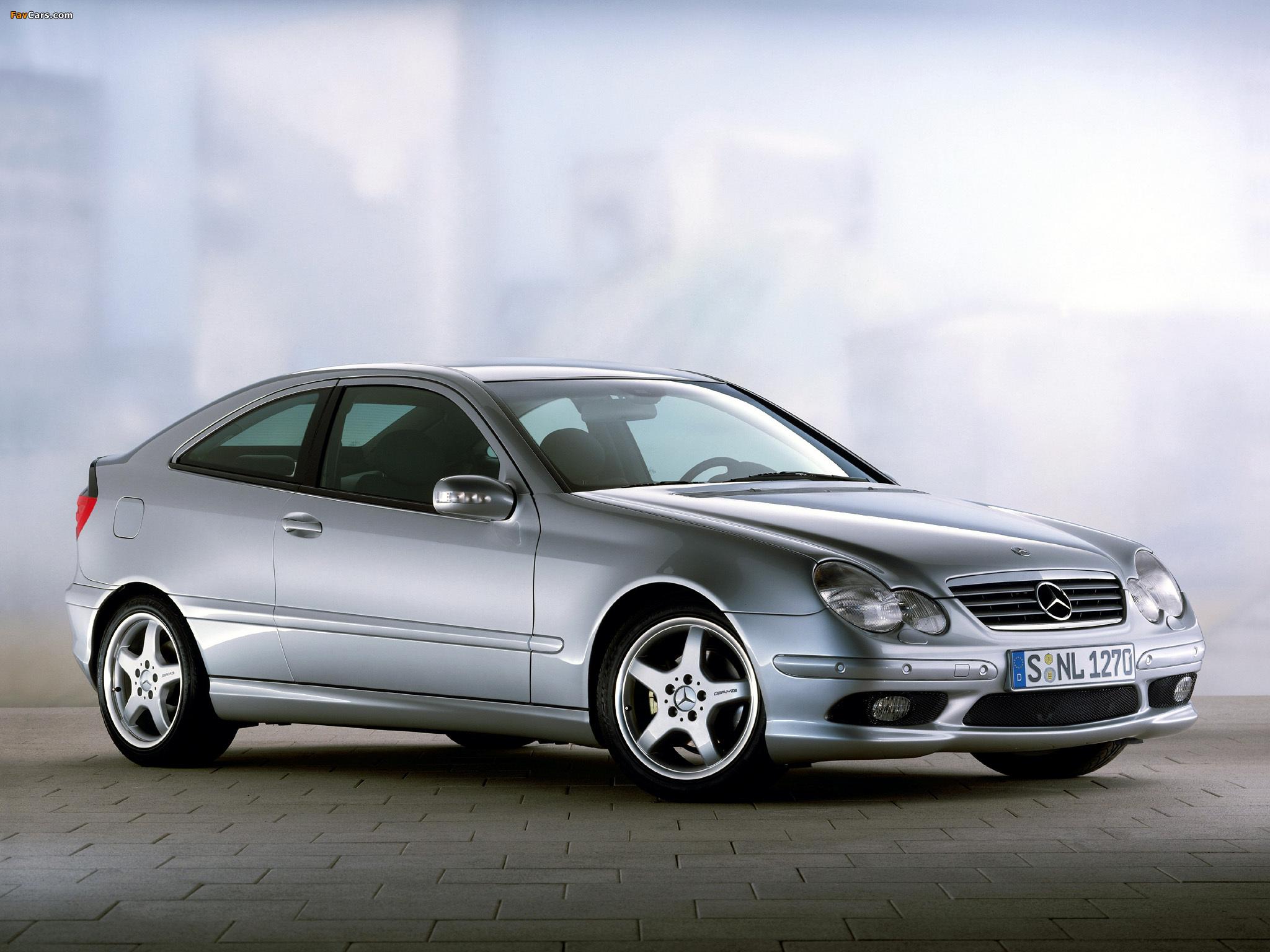 Mercedes-Benz C 230 Kompressor Sportcoupe (C203) 2001–05 wallpapers (2048 x 1536)