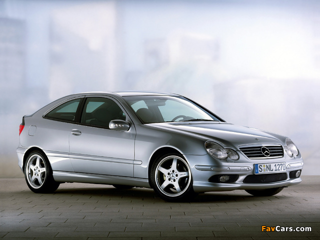 Mercedes-Benz C 230 Kompressor Sportcoupe (C203) 2001–05 wallpapers (640 x 480)