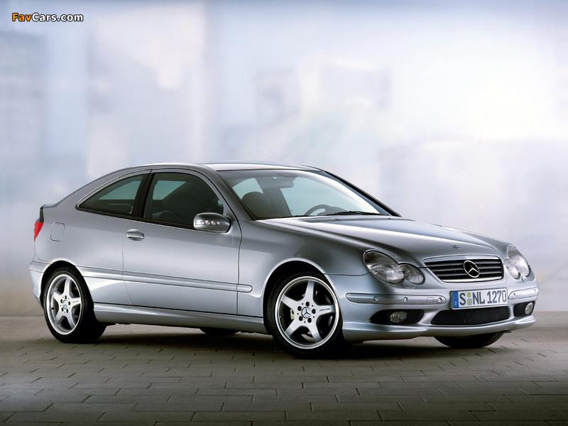 Mercedes-Benz C 230 Kompressor Sportcoupe (C203) 2001–05 wallpapers (800 x 600)