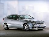 Mercedes-Benz C 230 Kompressor Sportcoupe (C203) 2001–05 wallpapers
