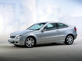 Mercedes-Benz C 200 Kompressor Sportcoupe (C203) 2001–05 wallpapers