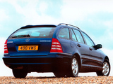 Mercedes-Benz C 200 Kompressor Estate UK-spec (S203) 2001–07 wallpapers