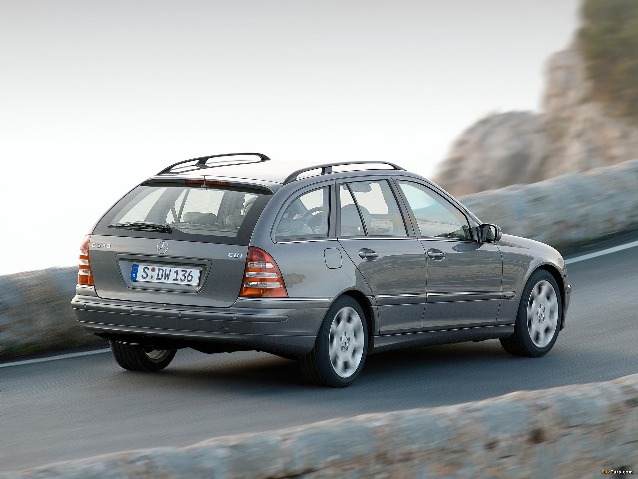Mercedes-Benz C 320 CDI Estate (S203) 2002–07 wallpapers (2048 x 1536)