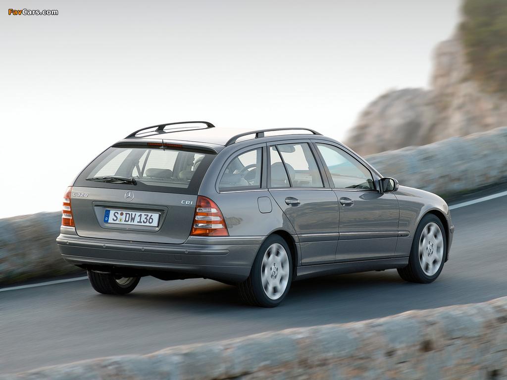 Mercedes-Benz C 320 CDI Estate (S203) 2002–07 wallpapers (1024 x 768)