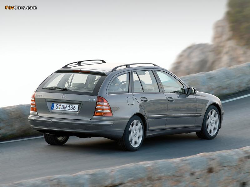Mercedes-Benz C 320 CDI Estate (S203) 2002–07 wallpapers (800 x 600)