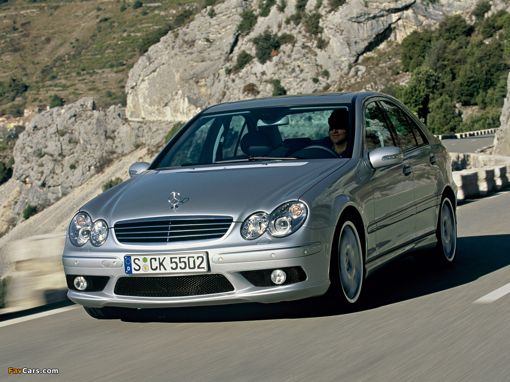 Mercedes-Benz C 55 AMG (W203) 2004–07 photos (1024 x 768)