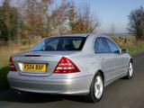 Mercedes-Benz C 320 UK-spec (W203) 2005–07 images