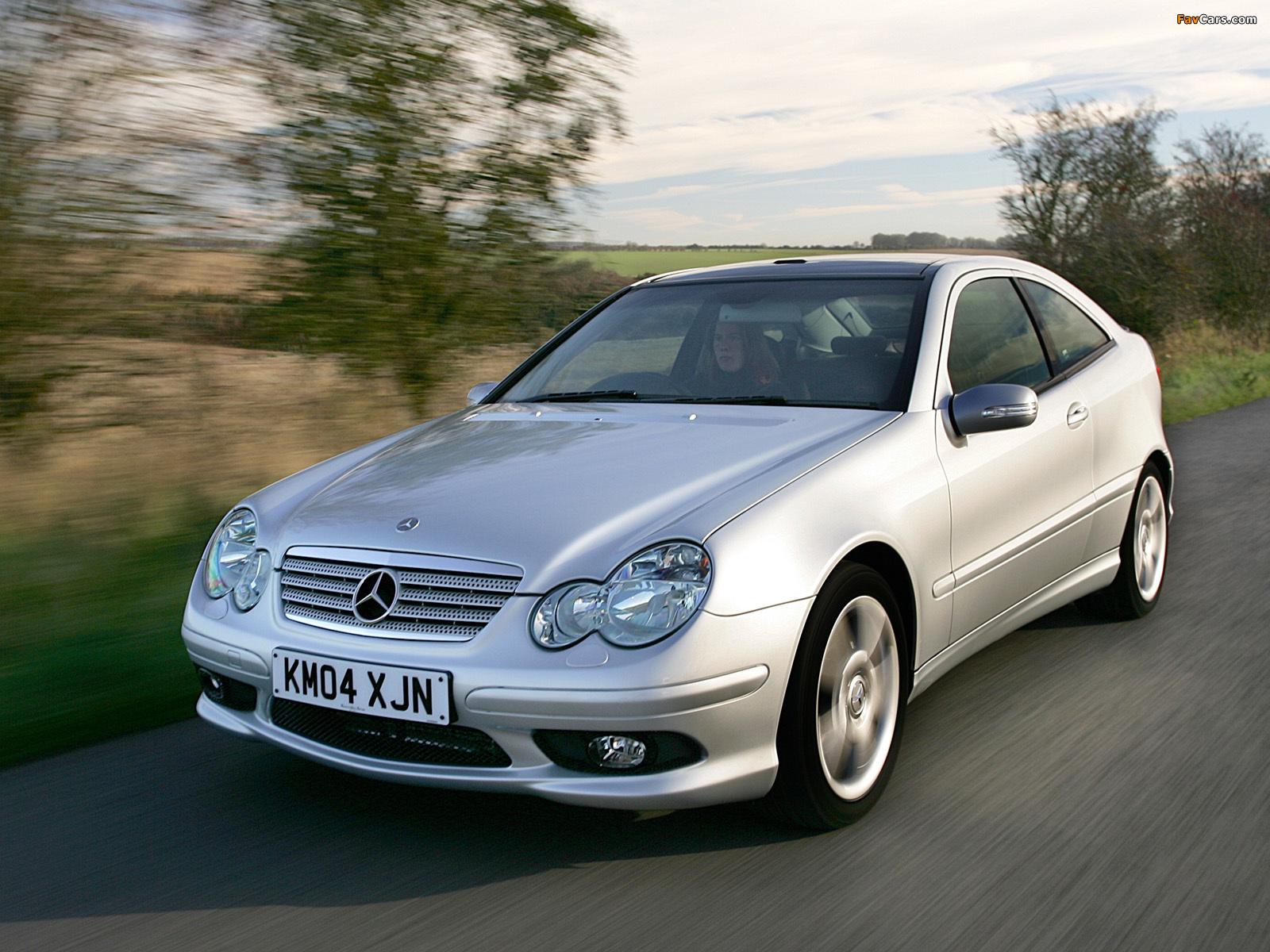 Mercedes-Benz C 320 Sportcoupe UK-spec (C203) 2005–07 pictures (1600 x 1200)