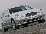 Mercedes-Benz C 230 Estate UK-spec (S203) 2005–07 wallpapers