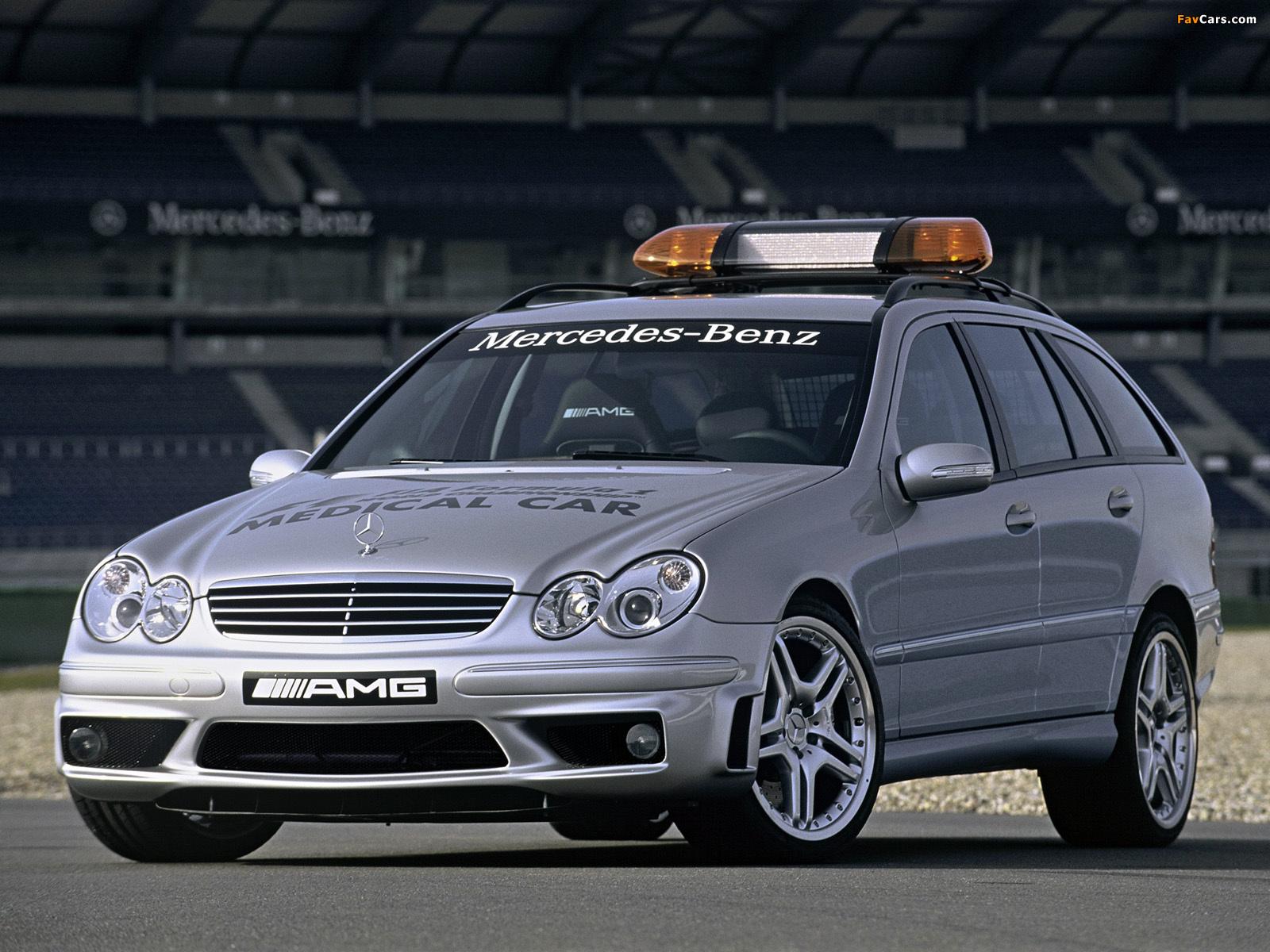 Mercedes-Benz C 55 AMG Estate F1 Medical Car (S203) 2005–07 wallpapers (1600 x 1200)