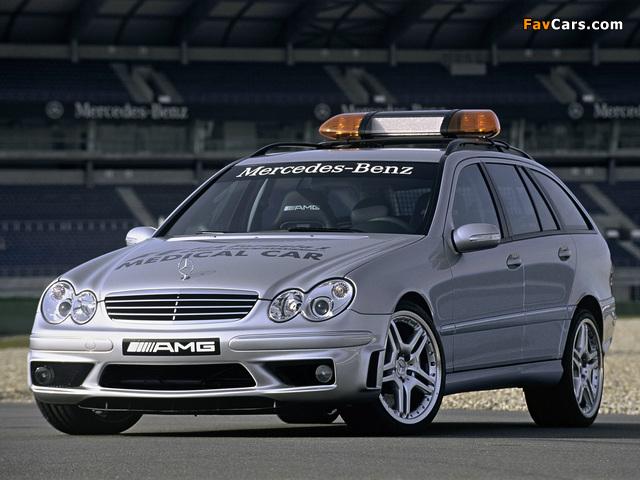 Mercedes-Benz C 55 AMG Estate F1 Medical Car (S203) 2005–07 wallpapers (640 x 480)