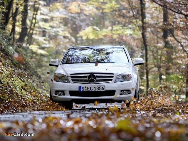 Mercedes-Benz C 350 4MATIC (W204) 2007–11 images (640 x 480)