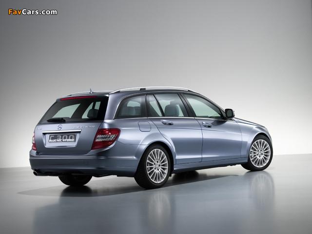 Mercedes-Benz C 300 BlueTec Hybrid Concept (S204) 2007 pictures (640 x 480)