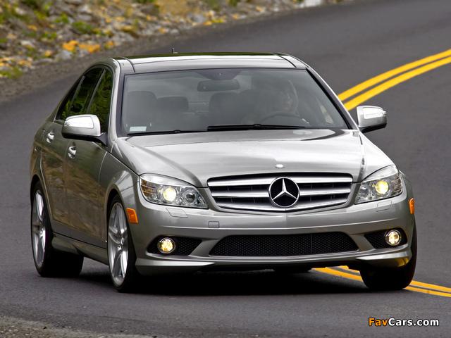 Mercedes-Benz C 300 Sport US-spec (W204) 2007–10 pictures (640 x 480)