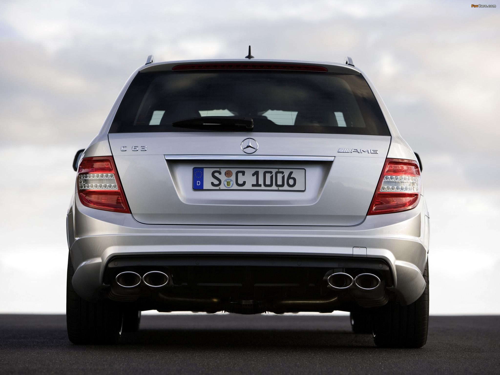 Mercedes-Benz C 63 AMG Estate (S204) 2008–11 images (2048 x 1536)