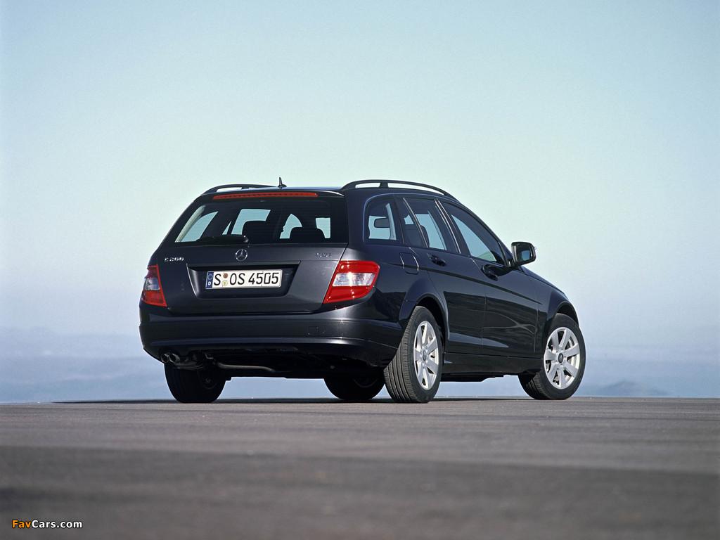 Mercedes-Benz C 200 CDI Estate (S204) 2008–11 images (1024 x 768)