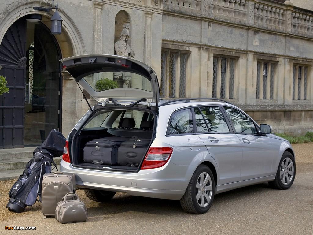 Mercedes-Benz C 180 Kompressor Estate UK-spec (S204) 2008–11 photos (1024 x 768)