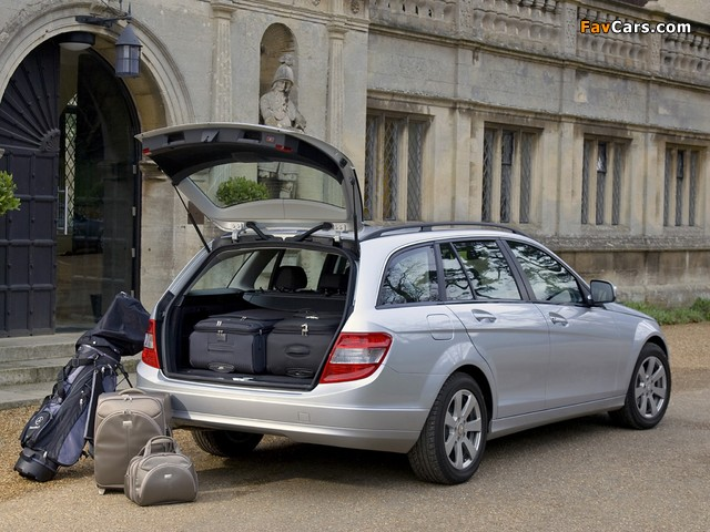 Mercedes-Benz C 180 Kompressor Estate UK-spec (S204) 2008–11 photos (640 x 480)
