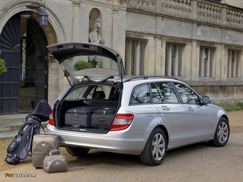Mercedes-Benz C 180 Kompressor Estate UK-spec (S204) 2008–11 photos (800 x 600)