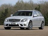 Mercedes-Benz C 63 AMG Estate UK-spec (S204) 2008–11 photos