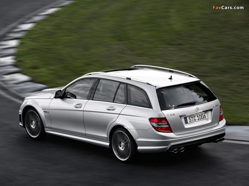 Mercedes-Benz C 63 AMG Estate (S204) 2008–11 photos (800 x 600)