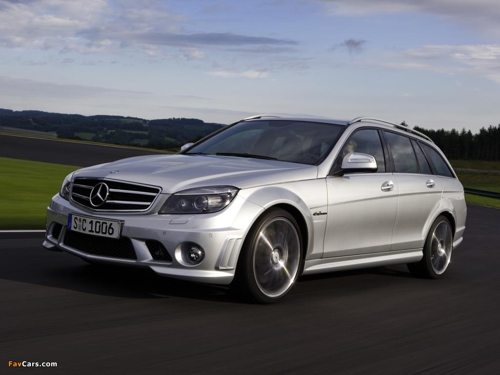 Mercedes-Benz C 63 AMG Estate (S204) 2008–11 photos (1024 x 768)