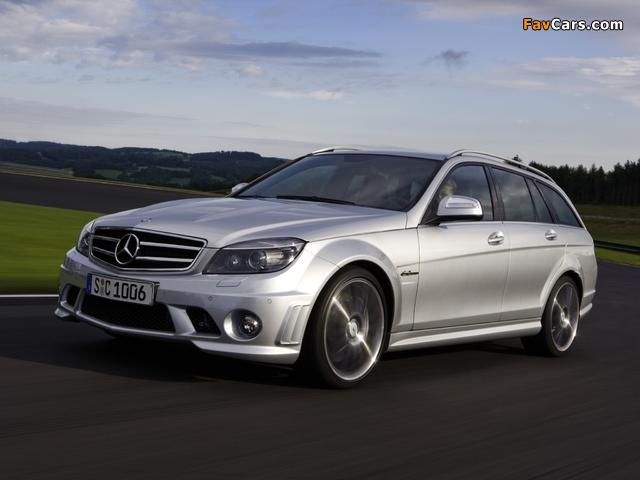 Mercedes-Benz C 63 AMG Estate (S204) 2008–11 photos (640 x 480)