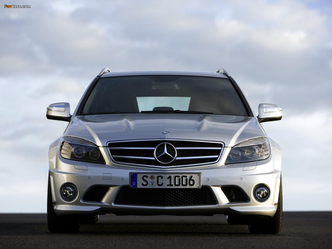 Mercedes-Benz C 63 AMG Estate (S204) 2008–11 photos (1280 x 960)