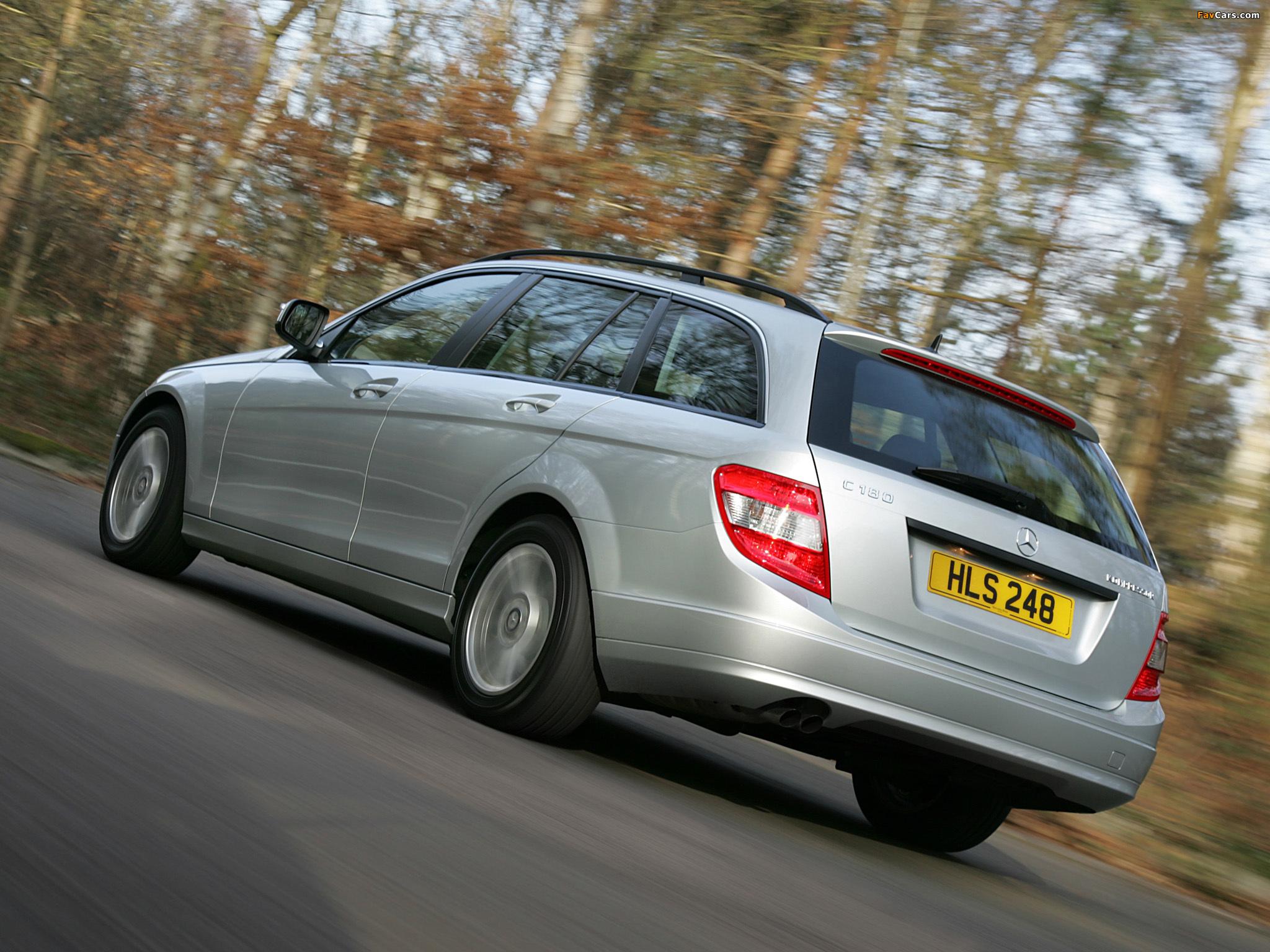 Mercedes-Benz C 180 Kompressor Estate UK-spec (S204) 2008–11 pictures (2048 x 1536)
