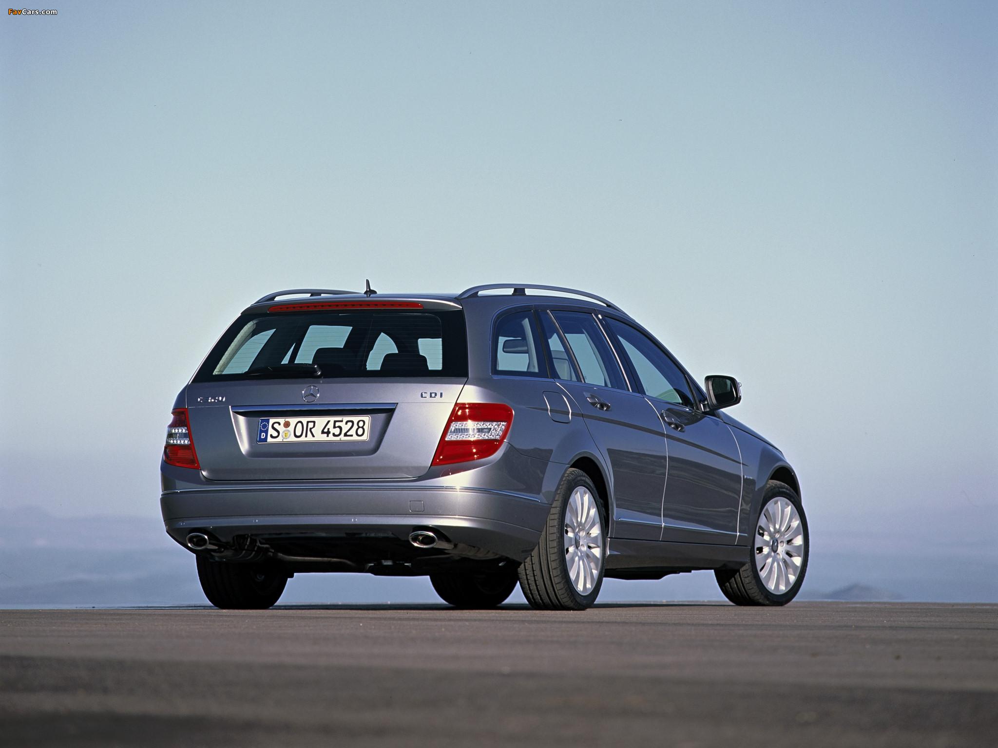 Mercedes-Benz C 320 CDI Estate (S204) 2008–11 pictures (2048 x 1536)