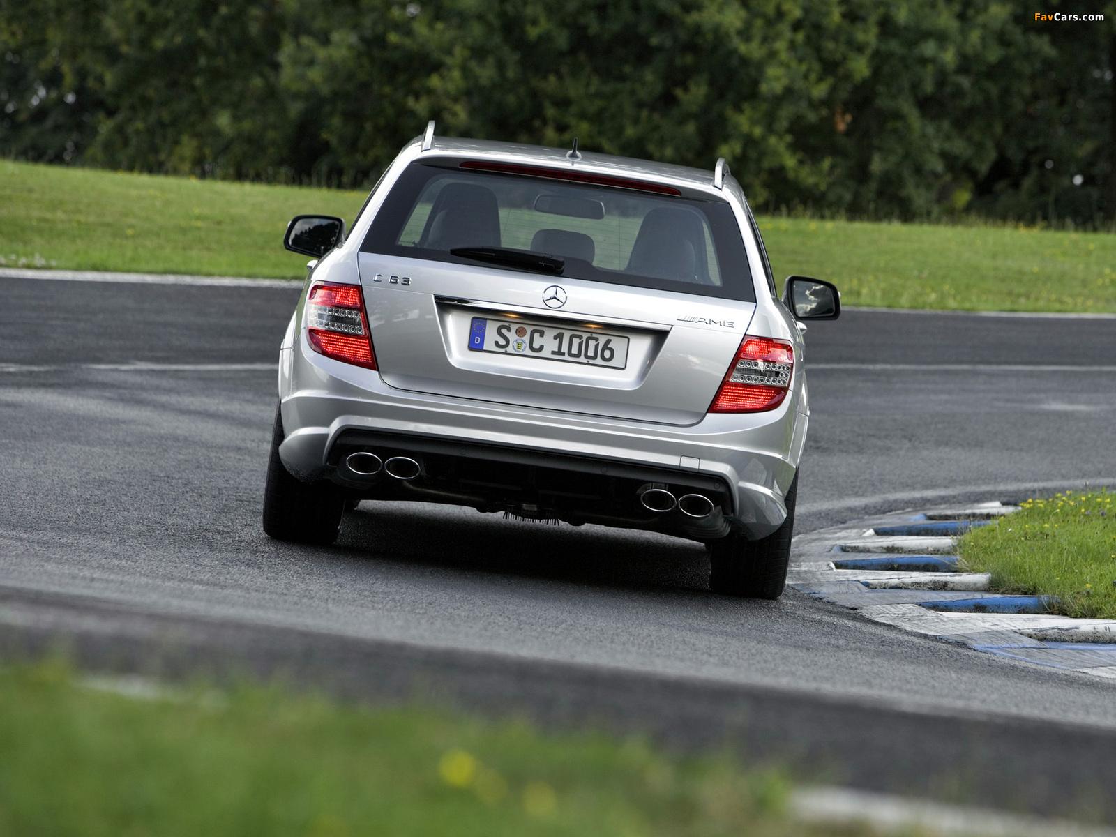 Mercedes-Benz C 63 AMG Estate (S204) 2008–11 pictures (1600 x 1200)