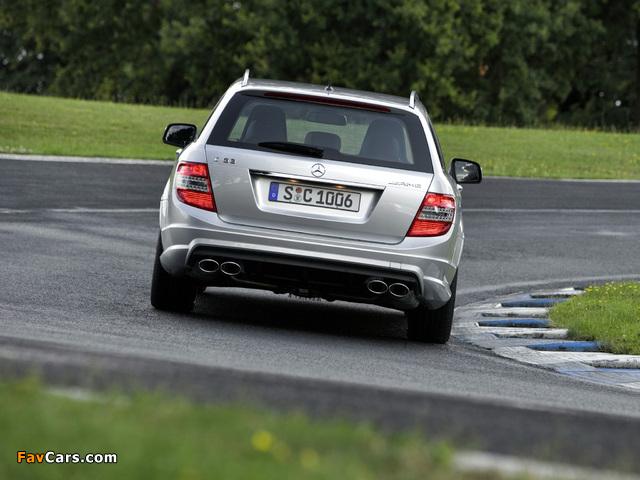 Mercedes-Benz C 63 AMG Estate (S204) 2008–11 pictures (640 x 480)
